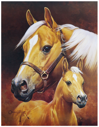 Mare and Foal by Orren Mixer